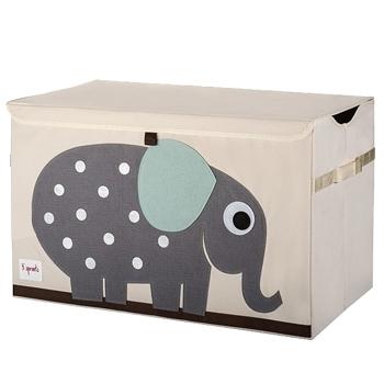 加拿大 3 Sprouts玩具收納箱-小象