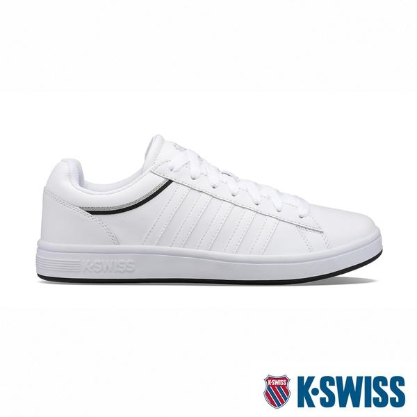 【超取】K-SWISS Court Winston 時尚運動鞋-男-白/黑/灰