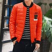 羽絨外套棒球領夾克-時尚休閒防風禦寒男外套4色73kf29【巴黎精品】