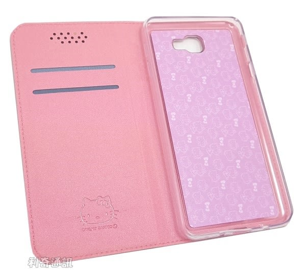 Hello Kitty 壓紋皮套 [粉] Samsung Galaxy J7 Prime G610Y (5.5吋)【三麗鷗正版授權】
