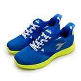 LIKA夢 DIADORA 迪亞多那 輕量飛織健走鞋 悠遊樂活 系列 藍螢綠 6596 男