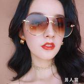 大框女士方圓臉百搭蛤蟆鏡度假素顏墨鏡顯瘦太陽鏡 zm4528『男人範』