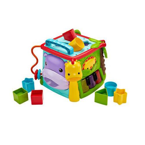 【奇買親子購物網】費雪牌 Fisher-Price 可愛動物積木盒