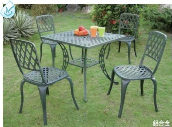 【南洋風休閒傢俱】戶外休閒桌椅系列-鋁合金編織桌椅組 戶外餐桌椅組 適民宿 餐廳 (#2302 #130C)