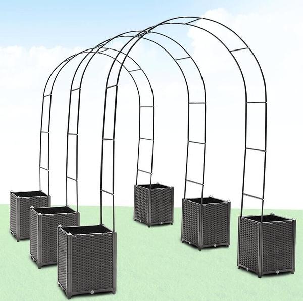 種植箱 拱形爬藤架子戶外簡易鮮花拱門花卉爬藤植物蔬菜種植架子子 - 小宅君嚴選
