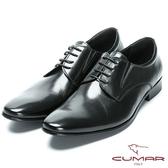 CUMAR 優雅紳士 修飾身形簡約紳士皮鞋-黑色