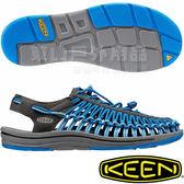 KEEN 1016892深灰/寶藍 Uneek 男專業戶外護趾編織涼鞋 繩編鞋/水陸兩用鞋/運動健走鞋 東山戶外