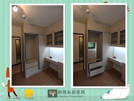【歐雅 系統家具 】推拉門衣櫃