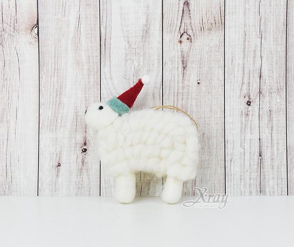 節慶王【X030008】毛氈擺飾-299(綿羊),聖誕節/木製/手作/裝飾/擺飾/交換禮物/道具