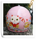 GP-5兒童安全帽,005,馬戲團貓咪/粉紅