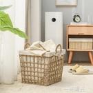 髒衣籃藤編髒衣服收納筐家用浴室髒衣簍草編洗衣籃零食玩具收納籃  一米陽光