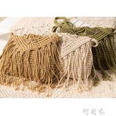 簡約流蘇斜背草編包 復古單肩編織包夏日沙灘包 盯目家