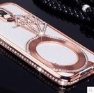 88柑仔店~三星GALAXY S6手機殼 金屬水鑽邊框 三星G9200鑽石保護套S6 Edge潮女