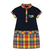 『小鱷魚童裝』格紋拼接洋裝(08號~16號)533355
