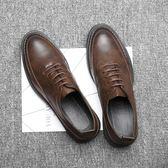 男皮鞋 保暖男鞋子 款尖頭休閒男鞋潮鞋商務厚底韓版青年男鞋休閒皮鞋《印象精品》q609