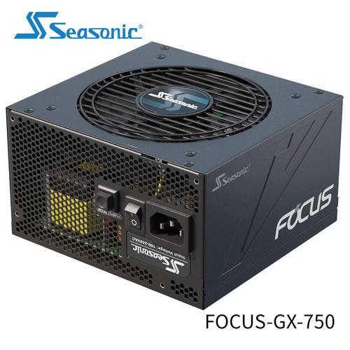 Seasonic 海韻 FOCUS GX 750 全模組 80 PLUS 金牌 10年保固 電源供應器 (SSR-750FX)