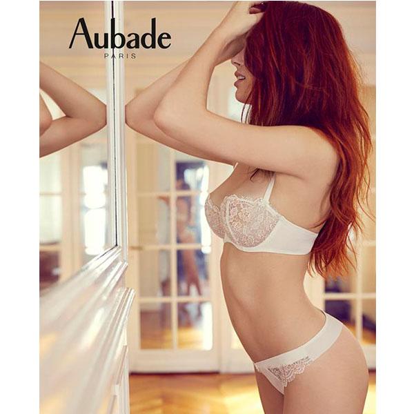 Aubade-密戀B-E特殊蕾絲薄襯內衣(白)FL