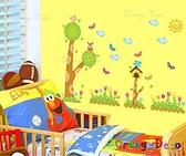 壁貼【橘果設計】小樹花鳥 DIY組合壁貼/牆貼/壁紙/客廳臥室浴室幼稚園室內設計裝潢