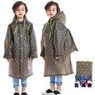 兒童雨衣防水雨披寶寶小孩加厚男女童帶書包位【古怪舍】