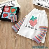 女童長袖T恤 女童長袖T恤2021秋裝新款韓版兒童圓領上衣寶寶洋氣網紅打底衫潮 快速出貨