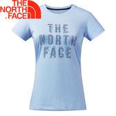 【The North Face 女款 FlashDry Print Tee 短袖排汗衣〈藍〉】2XV4/短袖/排汗衣/運動上衣★滿額送
