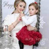 女童半身裙 女童裙網紗蓬蓬裙寶寶周歲生日禮服公主蛋糕裙花童 傾城小鋪