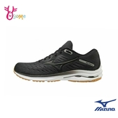 Mizuno慢跑鞋 男鞋 WAVE RIDER 24 SW 超寬楦 運動鞋 跑步鞋 路跑 馬拉松 美津濃 I9286#黑灰◆OSOME奧森鞋業