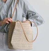新款韓版草編包小辣椒編織包草包沙灘包單肩包海邊旅游度假女包包『快速出貨』