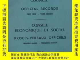 二手書博民逛書店ECONOMIC罕見AND SOCLAL COUNCIL【經濟和