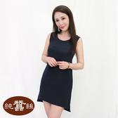【岱妮蠶絲】公主線典雅蠶絲背心洋裝(黑色)