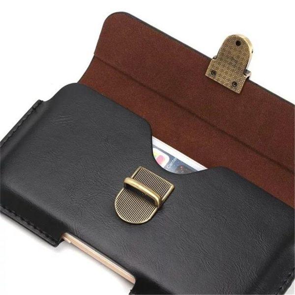 老人機挂腰皮套 男土穿皮帶通用手機腰套 蘋果華?紅米5.5寸6寸包