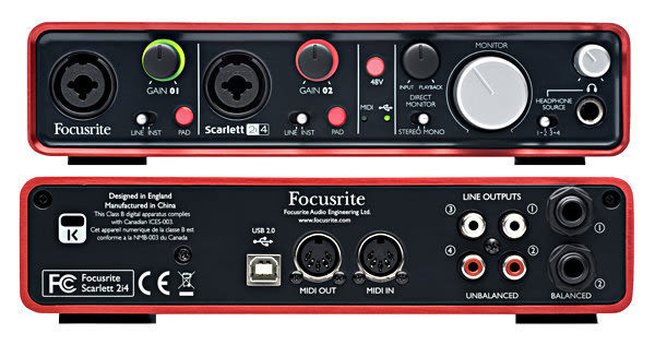 【WowLook】全新 二代 Focusrite Scarlett 2i4 (2nd Gen) 錄音介面 錄音卡 USB