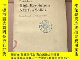 二手書博民逛書店high罕見resolution NMR in solids(P823)Y173412