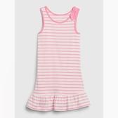 Gap女幼棉質荷葉邊飾背心連衣裙539815-粉色條紋