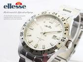 【完全計時】手錶館│ ellesse 極簡經典運動腕錶 03-0672-501 白/大 魅力新品