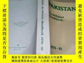 二手書博民逛書店PAKISTAN罕見An Official HandbooK1978-81Y9766 Ministry of
