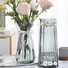 【兩件套】北歐玻璃花瓶透明干鮮花插花瓶擺件【奇趣小屋】