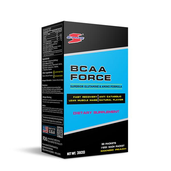 美國SURPASS BCAA FORCE 支鏈胺基酸360公克 盒裝/30入 健身 補給 公司貨