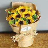 母親老師禮物實用送媽媽創意生日手工長輩香皂花束向日葵送禮物 LX 全館免運