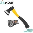 【KAZMI 韓國 KZM 彩繪民族風手斧(附保護套)《藍灰》】K5T3T010/露營工具/斧頭