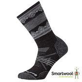 Smartwool 女 PhD戶外中級減震印花 中長襪『炭黑色』SW015023 美國製|保暖襪|登山襪|運動襪
