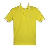 【南紡購物中心】HUGO BOSS 經典標誌配色男款POLO衫-黃