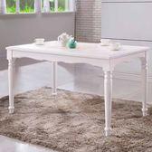 餐桌《Yostyle》凱西4.3尺餐桌 書桌 公主風 餐廳 高質感 純白 民宿 專人配送到府