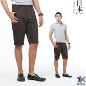 【特價款 即將斷貨】日本布料_日式昭和咖啡色短褲(中腰鬆緊修身版) 390(9433)
