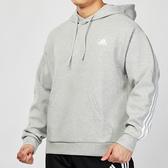 Adidas 3-STRIPES 男款 灰色 三條線 柔軟 針織 連帽 長袖 上衣 FL3890