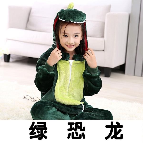 睡衣 秋男女嬰幼兒童寶寶卡通動物皮卡丘綠恐龍小黃鴨連體睡衣家居服