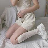 溫柔法式復古lolita暗紋玫瑰蕾絲花朵鏤空小腿長襪【毒家貨源】
