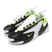 Nike 休閒鞋 Zoom 2K 黑 綠 氣墊設計 復古 運動鞋 男鞋【ACS】 AO0269-004