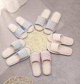 家居拖鞋男女兒童四季居家用室內秋季冬季棉麻布亞麻木地板一次性
