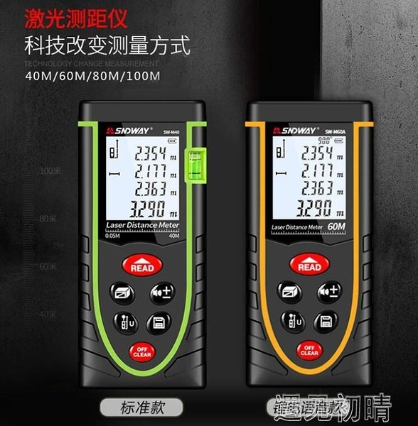 紅外線測距儀米尺量房神器激光戶外電子尺手持測量儀器工具高精度DF 遇見初晴